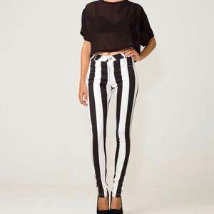 ASOS Motel Rocks Striped Pants/Jeans